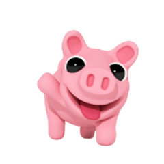 Adorable Rosa the Pig