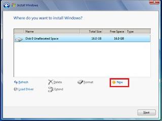 Mengatasi masalah Windows could not format partition disk 0 0x80070057