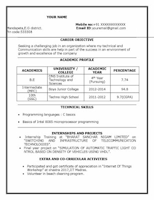 ECE Fresher Resume 1