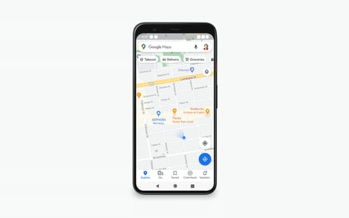 In short Google Maps shows how busy the place is right on the map