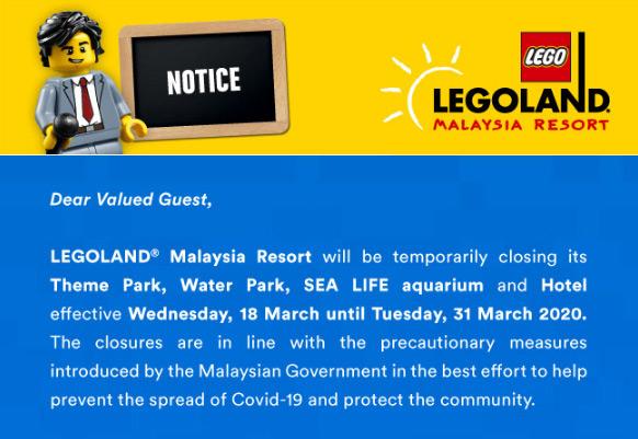 Malaysia Legoland Closed