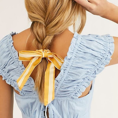 elástico de cabelo com laço