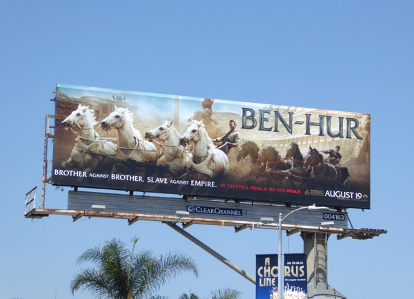 Ben Hur movie billboard