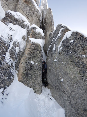 offwidth in crampons