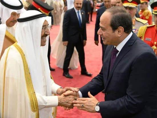 الرئيس السيسي يقدم تمنياته بالشفاء العاجل لأمير الكويت.