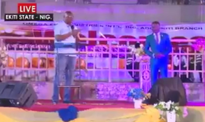 Video: Watch Ayo Fayose commend Apostle Suleman for been a very vocal pastor