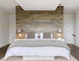 Kast Achter Bed : Binnenkant een wandje achter het bed
