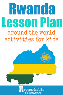 Building the perfect Africa lesson plan for your students? Are you doing an around-the-world unit in your K-12 social studies classroom? Try these free and fun Rwanda-themed activities, crafts, books, and free printables for teachers and educators! #rwanda #africa #lessonplan #geography #socialstudies