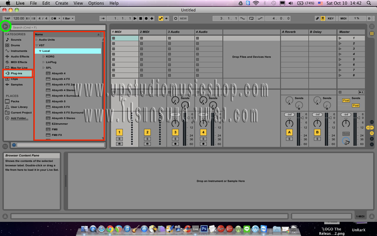 how to use plugins on ableton pc
