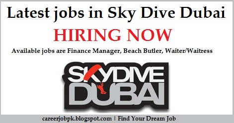 Latest jobs in Sky Dive Dubai