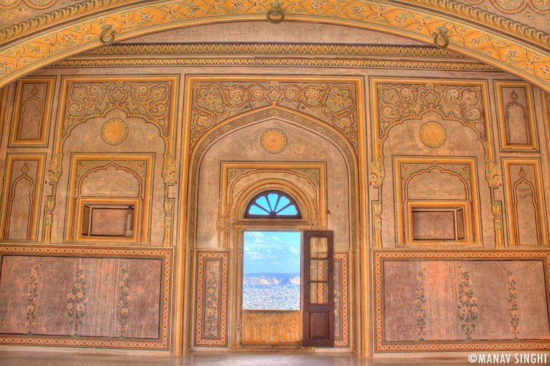 Room at First Floor with beautiful View of Jaipur at Madhavendra Palace, Nahargarh Fort, Jaipur.
