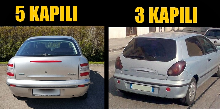 Fiat Brava arkadan görüntüsü