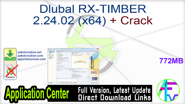 Dlubal RX-TIMBER 2.24.02 (x64) + Crack
