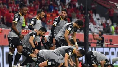 Al Ahly before the Bayern Munich match
