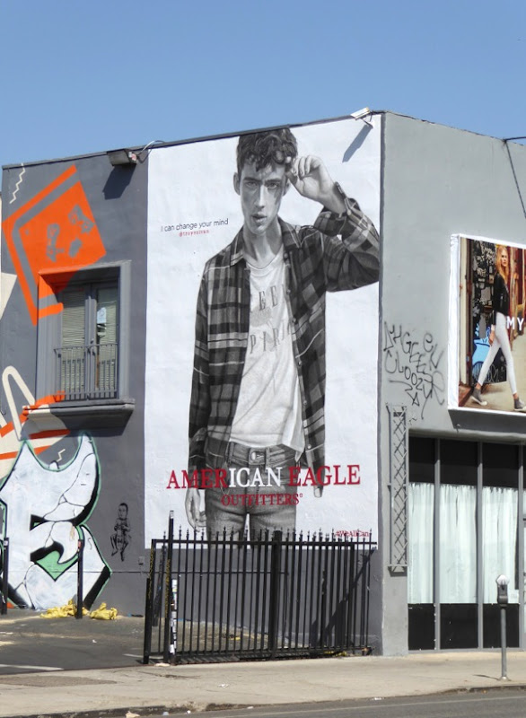 American Eagle Outfitters Troye Sivan FW16 wall mural ad