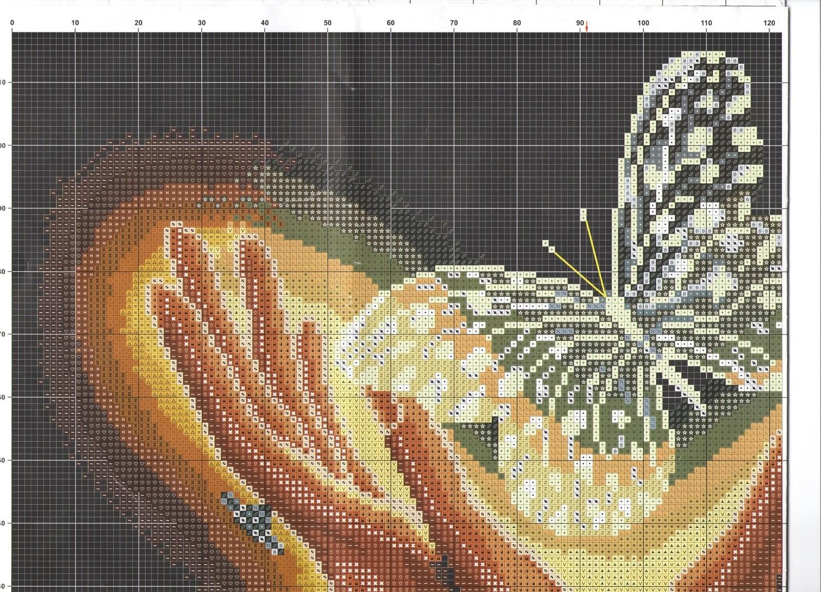 Хрустальная бабочка схема вышивки