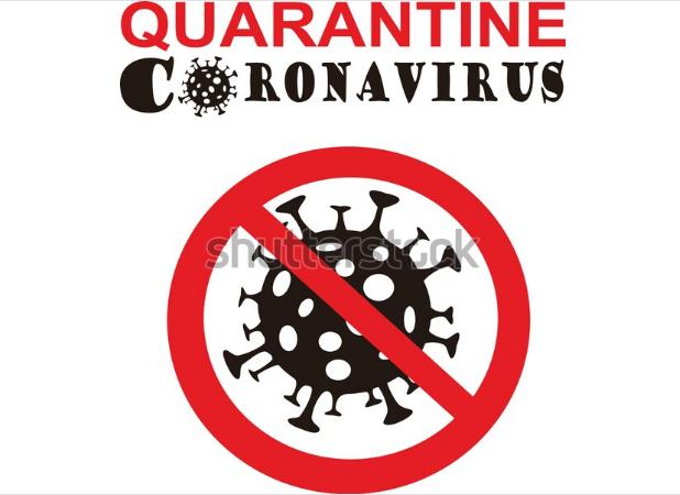illustration portfolio sign caution coronavirus