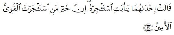 Dasar Hukum Ijarah - QS. Al-Qashash ayat 26