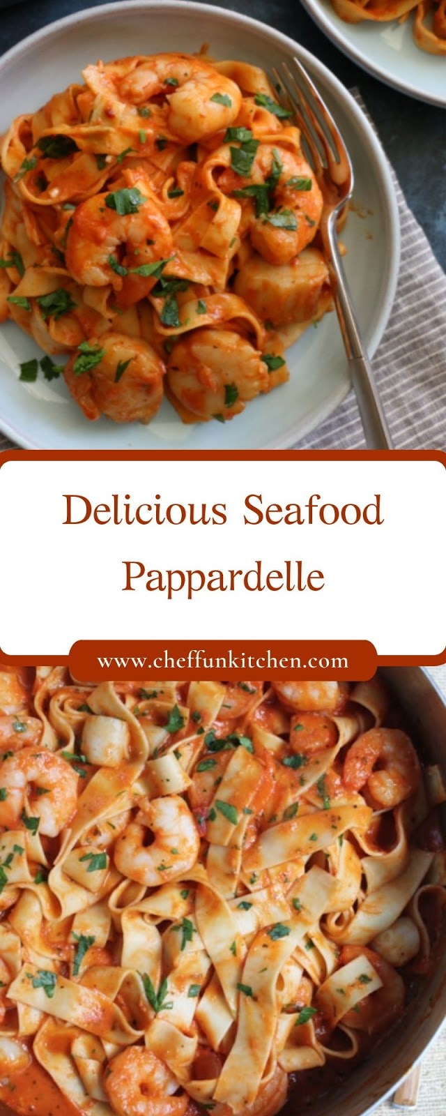 Delicious Seafood Pappardelle