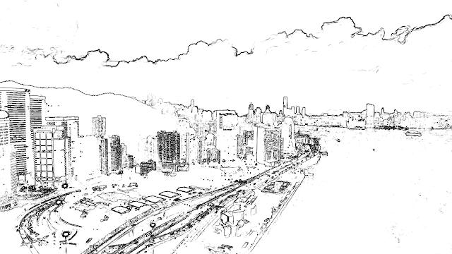 街並み_線画