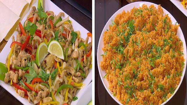 بخطوتين فقط اعملي احلي فاهيتا دجاج مع الرز المكسيكي