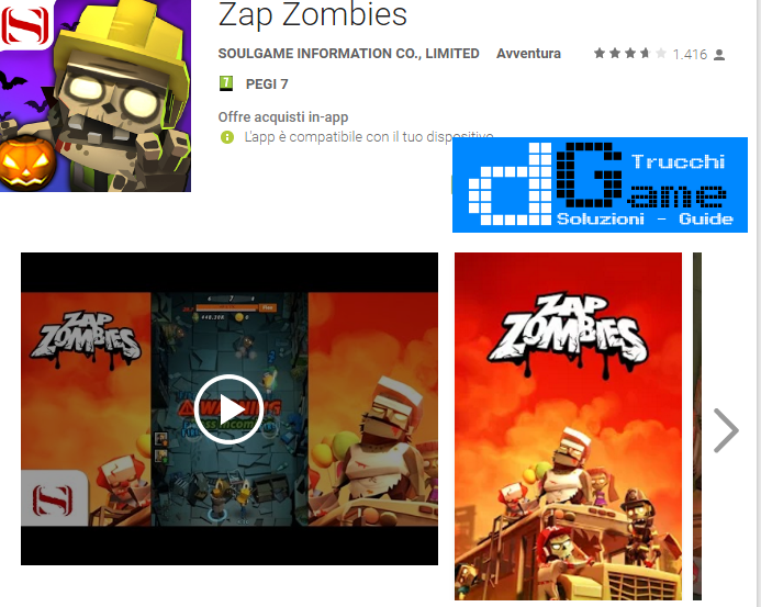 Trucchi Zap Zombies Mod Apk Android V1.8.20161114.1146