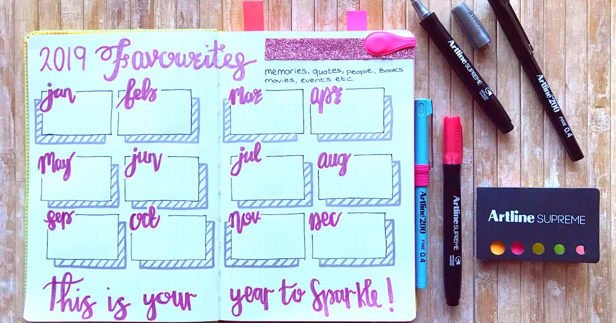 Artline Monday - 2019 memory keeping in your Bullet Journal