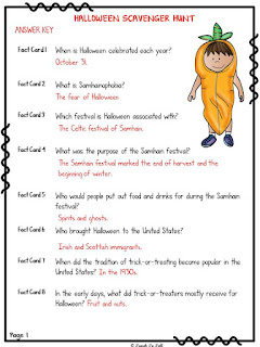 Halloween themed classroom Display Banner: Halloween Activity: Scavenger Hunt Recording Sheet