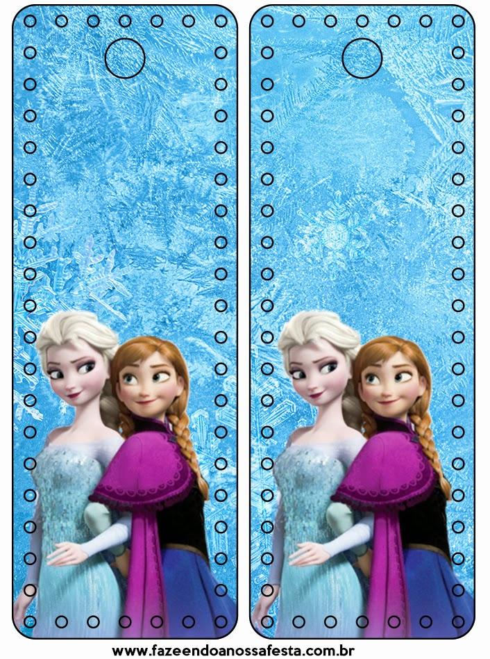 Para marcapáginas de Fiestas de Frozen.