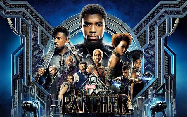 Chadwick Boseman and Michael B. Jordan action in Black Panther