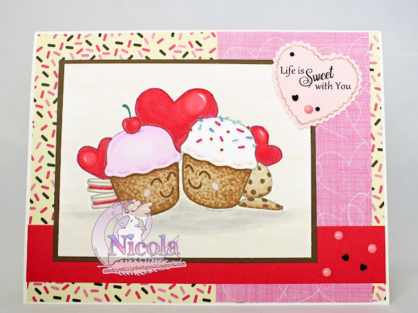Cute layered card featuring Life Is Sweeter With You