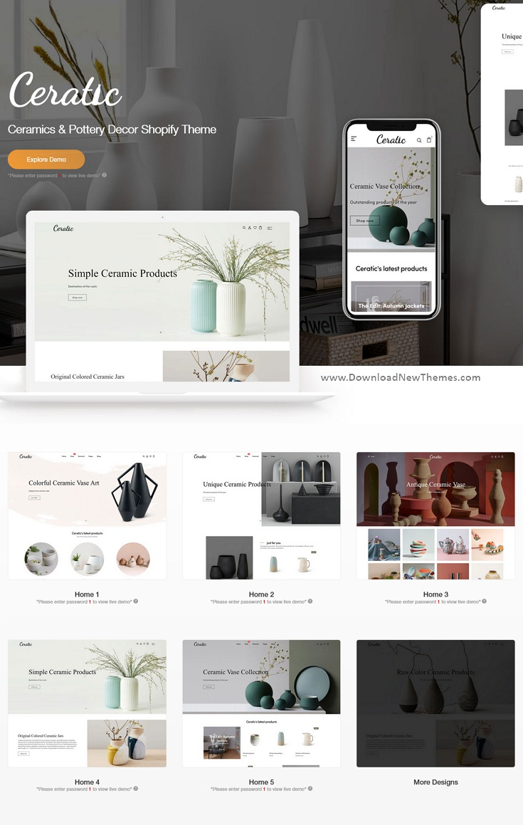 Best Ceramics and Pottery Decor Shopify Theme