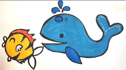 Fish drawing and coloring for Children - Learn Colors for kids