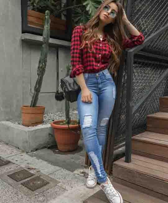 6 maneiras de usar calça jeans destroyed