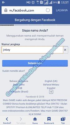 Buat Facebook Baru