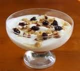 Yogurt con frutos secos