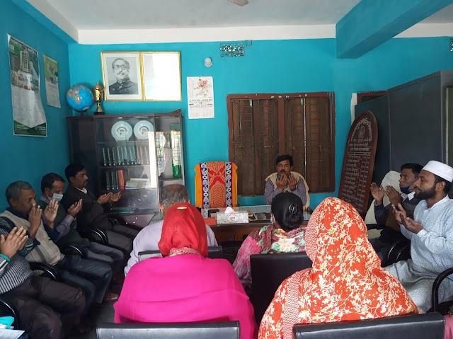 গঙ্গানন্দপুর মাধ্যমিক বিদ্যালয়ে শহীদ বুদ্ধিজীবি দিবস উপলক্ষে দোয়া মাহফিল
