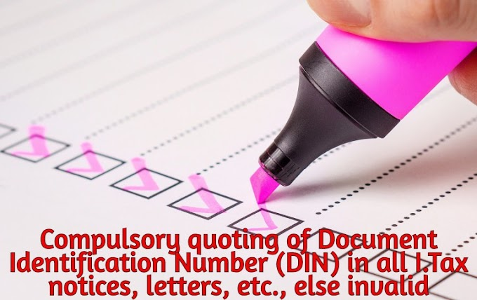 Mandatory Quoting of Communication Number in Income Tax Letters