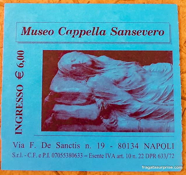 Ingresso para a Capela de Sansevero, Nápoles