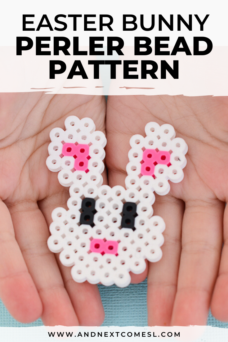 Easter bunny perler beads project