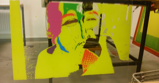Kunstwerk op acrylaatglas - Artistic project on acrylic glass