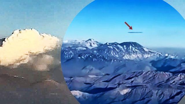 Enorme ovni en forma de cigarro filmado sobre la cordillera de los Andes, Chile, 11 de noviembre de 2020