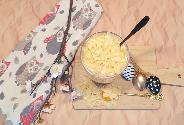 Rezept Schichtdessert mit Frischläse, Kirschen und Mandeln - fraukskleinewelt.blogspot.com