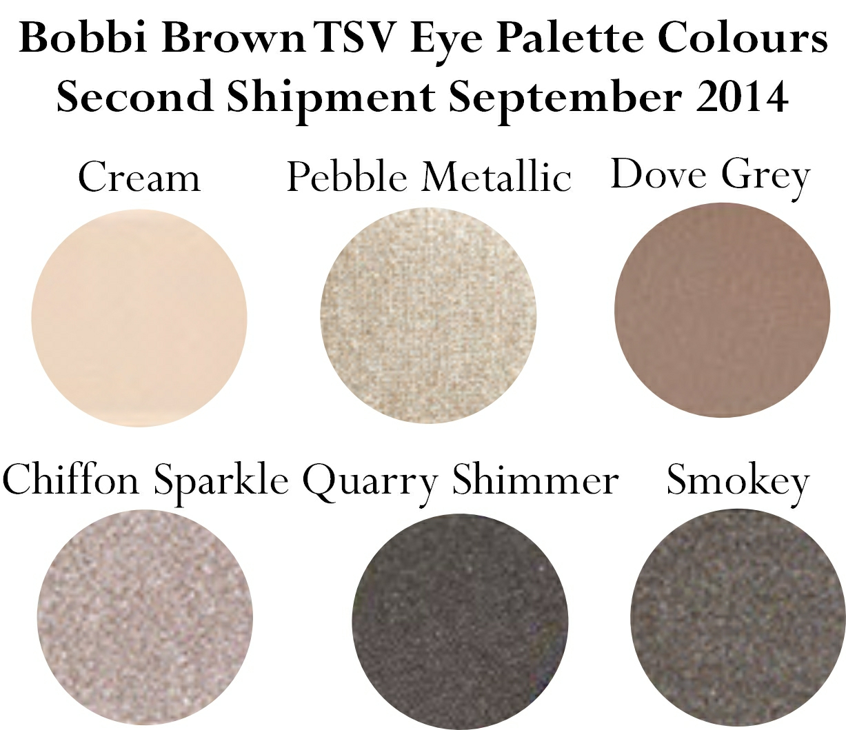 Bobbi Brown Back to Basics September Eye Palette Colours