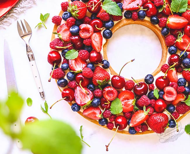 tarte fruits rouges facile et rapide