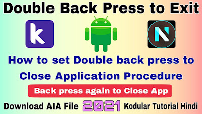 Double back press to Exit Kodular tutorial
