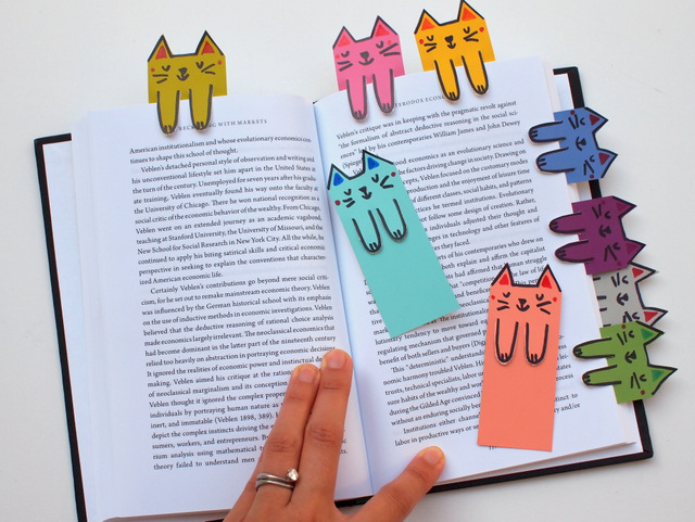 how to make easy cat bookmarks with paintchips