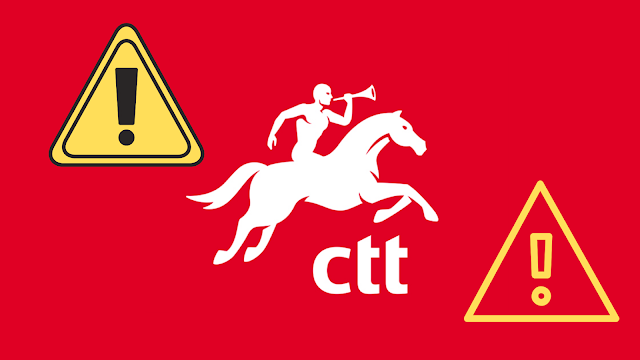 Alertas de Phishing - Emails CTT falsos para pagar Alfandega