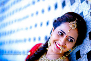 Anchor lasya Engagement photos images