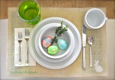 Easter Bunny Burlap Placemats Make Life Lovely
